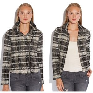 Lucky Brand Plaid Moto Jacket